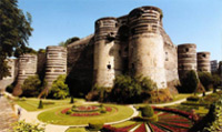 The castle of Angers dates back to the 9th century.