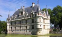 The luxurious Azay-le-Rideau chateau is one of the best examples of early French renaissance architecture.