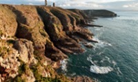 Cap Frehel is a peninsula surrounded by mainly cliffs overlooking the sea to the north.