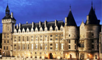 The Conciergerie in the west of the Ile de la Cite was formerly a jail.