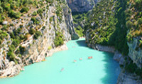 Grand Canyon du Verdon is formed by the Verdon River, and offers spectacular views.
