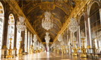 Take a guided tour of luxury Hall of Mirrors; the central gallery of the Palace of Versailles.