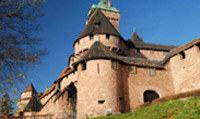 Be guided through the 12th century Haut-Koenigsbourg castle.
