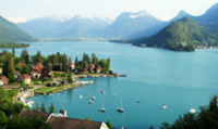 Lake Annecy is the third largest lake in France and known as 'Europe`s cleanest lake'.