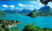Lake Annecy is the third largest lake in France, known for being  'Europe`s cleanest lake'.