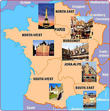 Map Of North West France.France Tours Tours Selection In Various Areas Of France