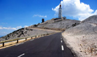 Mont Ventoux is the largest mountain in Provence, famous for its use in the Tour de France cycling race.