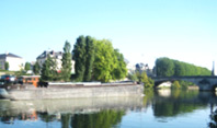 A barge on the Oise river at Compiegne.