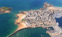 St-Malo is considered to be the most attractive channel port in France; originally built on a rocky island.