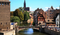 Strasbourg City and the Ill river: a very quaint historic center.