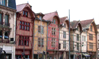 Your tour guide will take you to view the half-timbered houses and Gothic churches in Troyes in the Champagne region of Northern France.